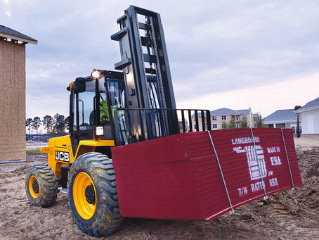 Rough Terrain Forklifts: Heavy-duty transporters ideal for small jobsites