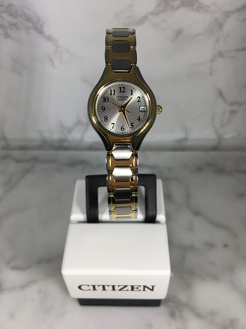 Ladies Silver and Gold Citizen Quartz Bracelet Watch