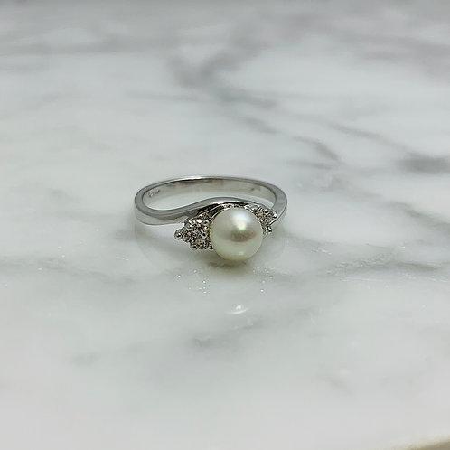 14KW Akoya Pearl Ring