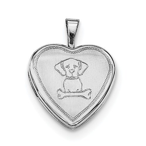 "Sterling Silver ""Give a Dog a Bone"" Locket"