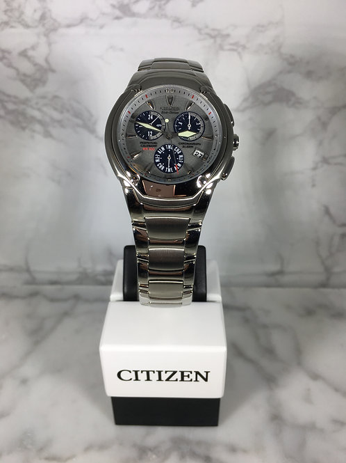 Men's Silver Citizen Eco-Drive Bracelet Watch