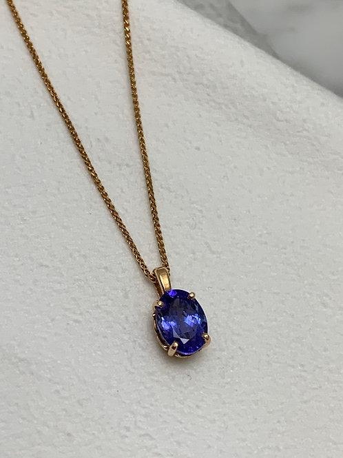 14KR Tanzanite Necklace