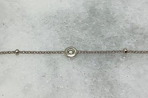 14KW Diamond Station Bracelet