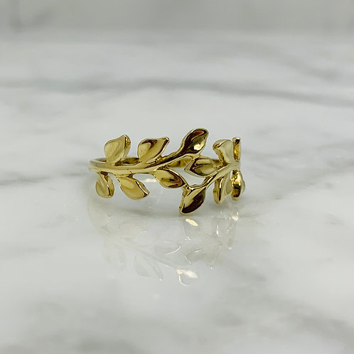14KY Leaf Ring