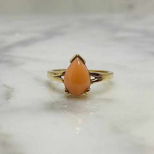 10KY Pink Coral Ring