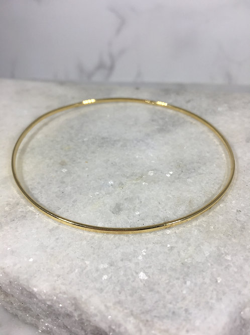 Solid 14K Yellow Gold Bangle Bracelet