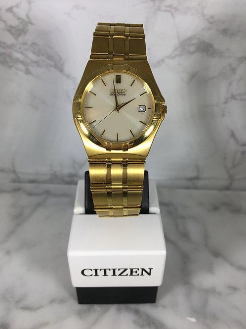 Men's Gold Citizen Eco-Drive Bracelet Watch