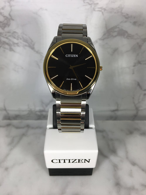Men's Silver and Gold Citizen Eco-Drive Bracelet Watch