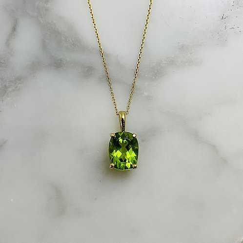 14KY Peridot Necklace