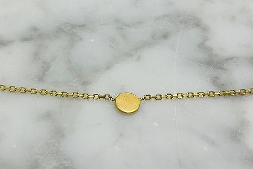 14KY Disc Station Necklace