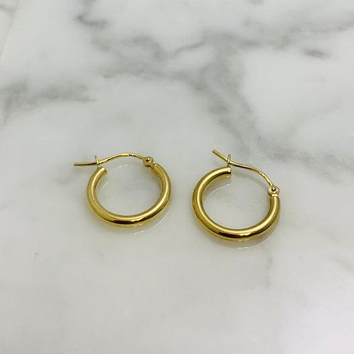 14KY Hoop Earrings