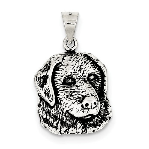 "Sterling Silver ""Look at that Face"" Labrador Pendant"
