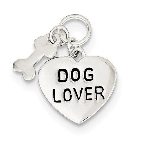 "Sterling Silver "" Dog Lover"" Pendant"