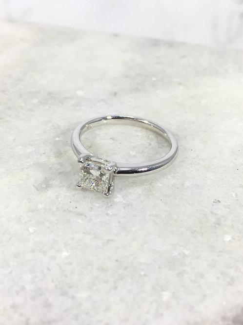 14k White Gold .80ct Diamond Ring