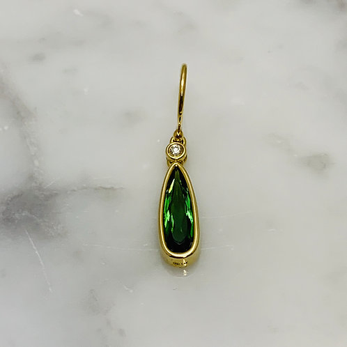 14KY Green Tourmaline Earrings