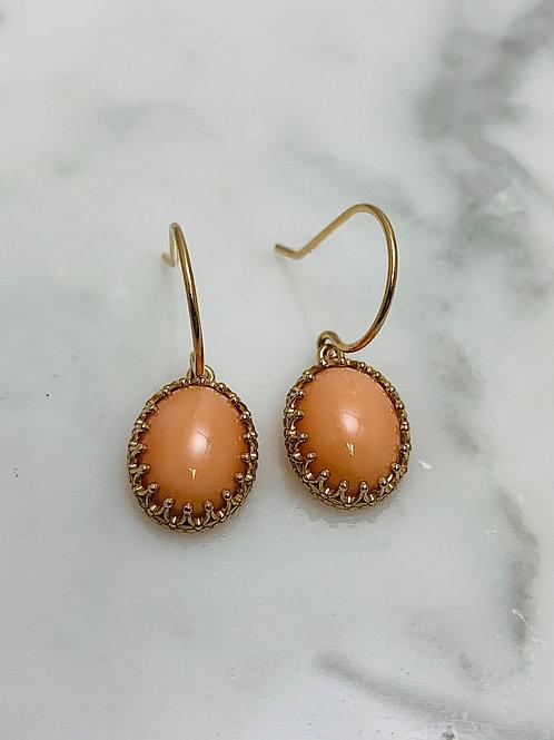 14KR Coral Earrings