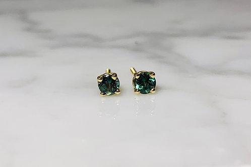 14KY Genuine Alexandrite Stud Earrings