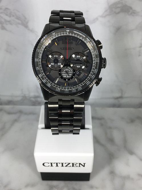 Men's Gun Metal Citizen Eco-Drive Bracelet Watch