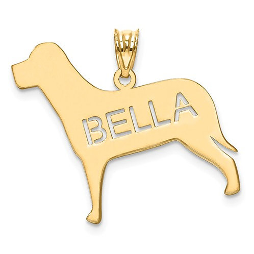 Custom Labrador Name Pendant