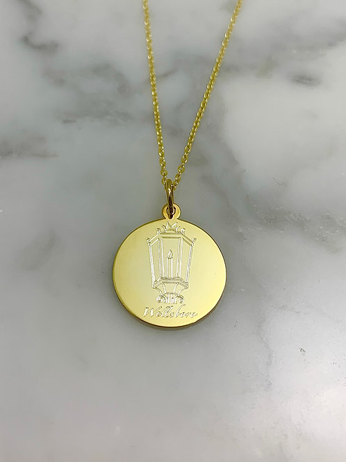 Gold Plated Sterling Silver Wellsboro Necklace