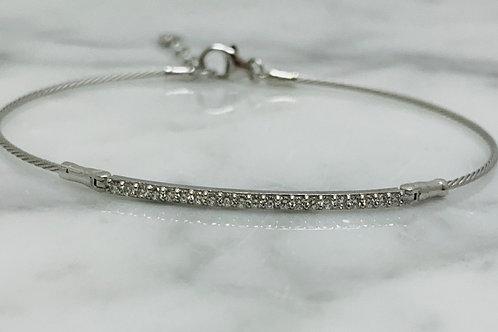 14KW Diamond Bar Bracelet