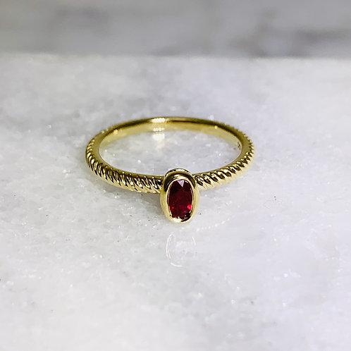 14KY Ruby Ring