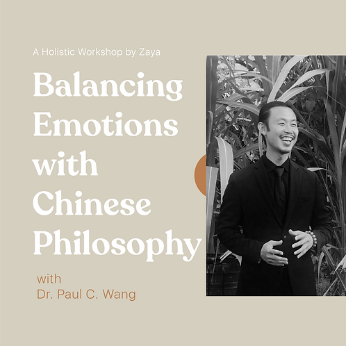 Balancing Emotions with Chinese Philosophy