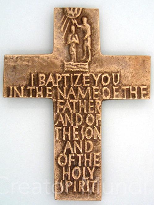 Bronze I Baptize You Cross