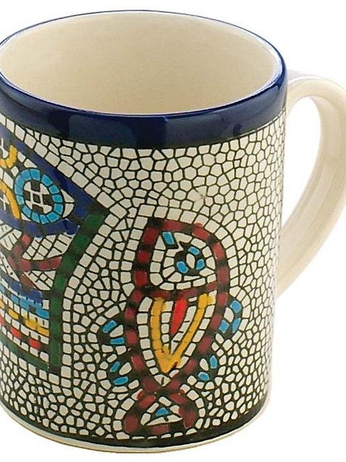 Ceramic mug loaves and fishes