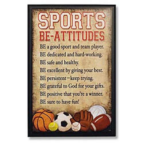 """Sports Be-Attitudes"" Plaque"