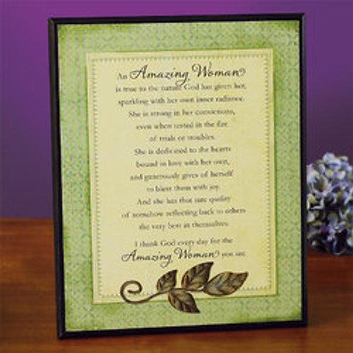 """""""Amazing Woman"""" Plaque"""