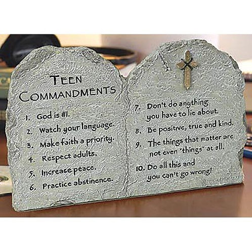 """Teen Commandments"" Plaque"