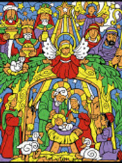 Colorful Nativity Color Your Own Advent Calendar