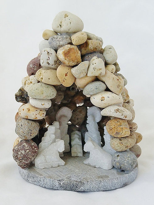 Small River Stone Grotto with Huamanga Nativity