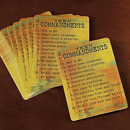 """""""Teen Commandment"""" Prayer Cards"""