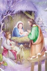 Away in a Manger Advent Calendar w/Env