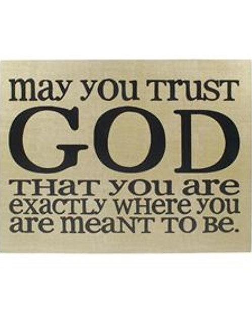 'Trust God' Wall Box Hanging Sign