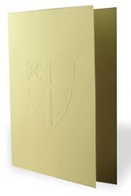 Embossed Episcopal Shield Note Cards