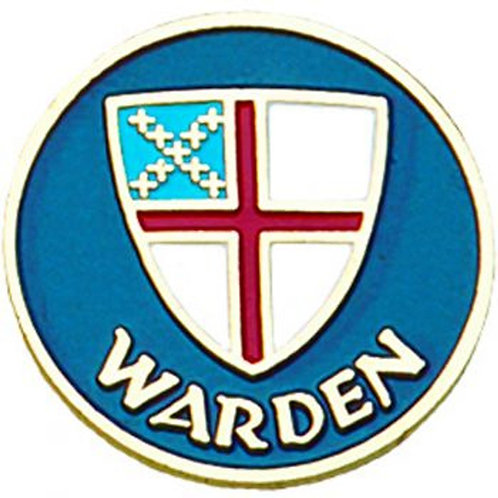 Episcopal Shield Warden Pin
