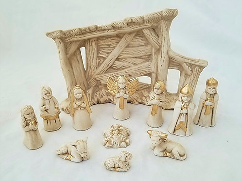 12 piece nativity set with crèche