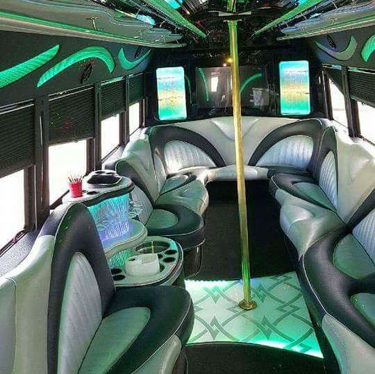 • Built In Bar  • Dance Floor Spacing • Wrap Around Limo Style Seating