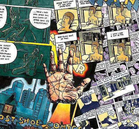 Images frm Alex Potts's comics.