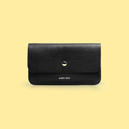 Le Financier - The banker is an ultra-thin wallet in black leather
