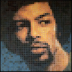 Gil Scott-Heron. After the cover of Pieces of a Man, 1971. By Fernando Safont