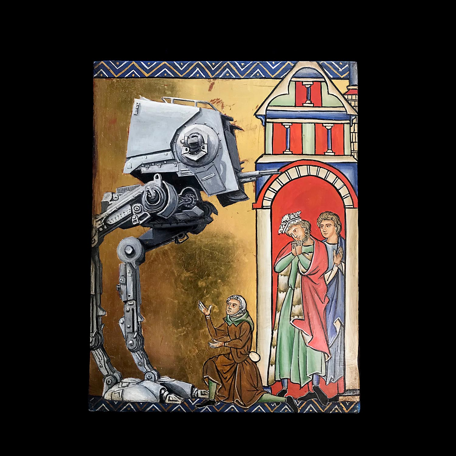 Are you friend or foe? After the Crusader Bible (13th century). By Fernando Safont