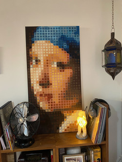 After The Girl with the Pearl Earring, by Vermeer, 1665. By Fernando Safont