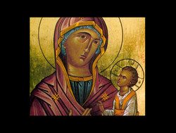 Icon painted by Fernando Safont