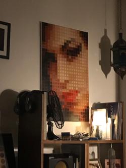 Amy Winehouse. After a portrait. By Fernando Safont
