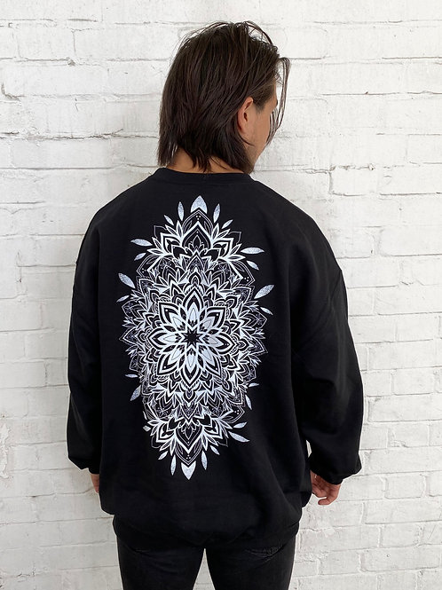 Mandala Sweatshirt- Black