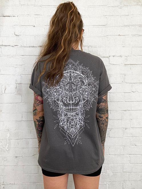Skull Tee- Charcoal